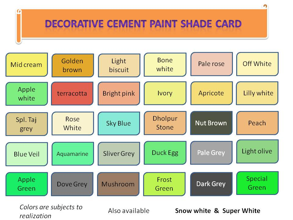 cement paint shades